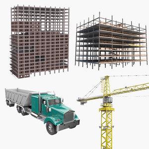 3D model construction-public works construction