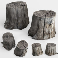 photoscan of two stumps photogrammetry