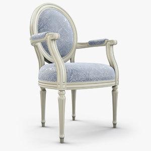 3D louis xvi armchair