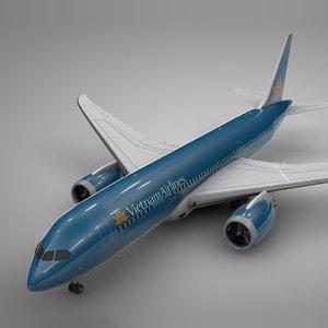 boeing 787 dreamliner vietnam 3D