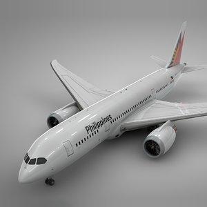 boeing 787 dreamliner philippines 3D model