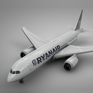 3D boeing 787 dreamliner ryanair model