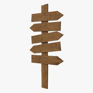 wood sign 3D
