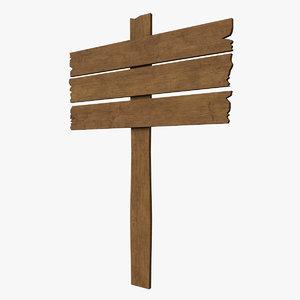 3D wood sign