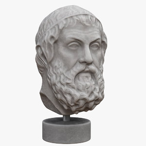 socrates bust 3D model