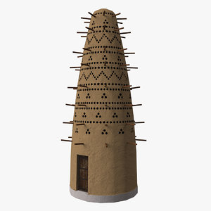 3D model pigeon tower