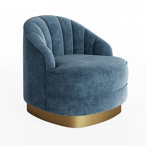 3D chair hadley eichholtz