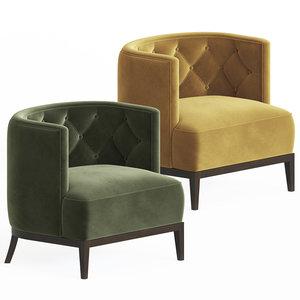bourbon armchair brabbu 3D model