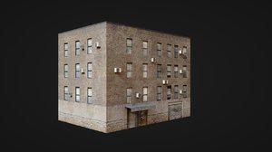 3D model building street