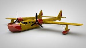 3D propeller plane airplane