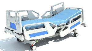 hospital medical bed 2 3D model