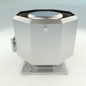 3D model roof ventilation architecture