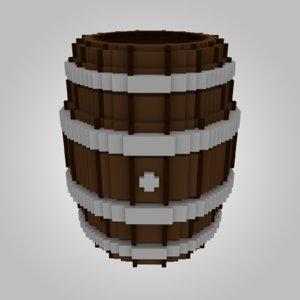3D wood wooden voxel