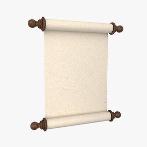 3D scroll roll