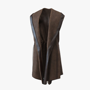 vest cloak hood model