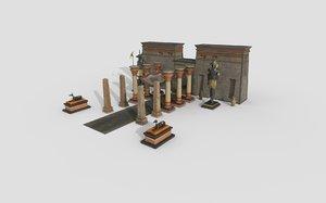 egypt temple model