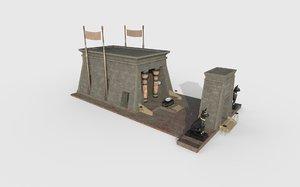 egypt temple 3D model