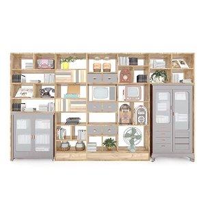 3D shelf retro devices housewares