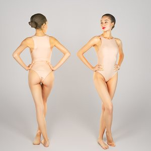 3D scanned human young woman
