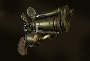 gun steam punk 3D model