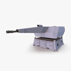 millennium gun weapon 3D model