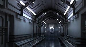 3D spaceship space station futuristic architecture