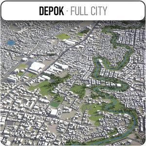 3D depok area buildings model