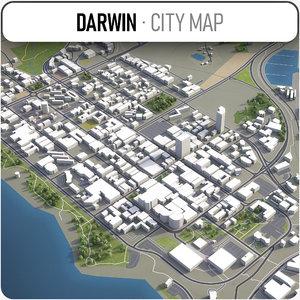 3D model darwin area buildings