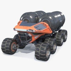 sci-fi rover refueler 3D model