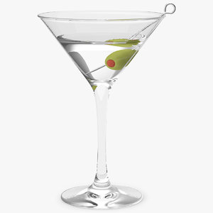 cocktail glass martini model