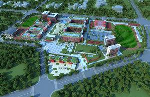school building architecture 3D
