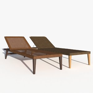 3D sun lounger
