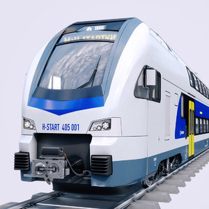 3D stadler kiss double deck model