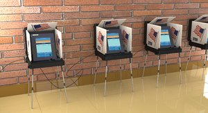 3D voting polling station model