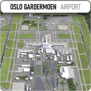 oslo gardermoen airport - 3D model