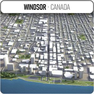 3D model windsor area buildings