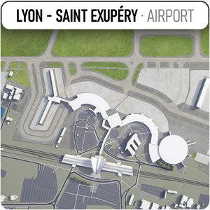 3D lyon - saint exupery