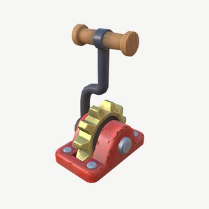 stylized lever 3D