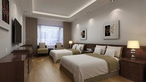 hotel room interior 3D model