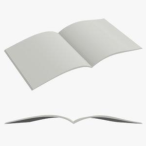 book brochure 3D model