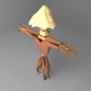 3D scarecrow model