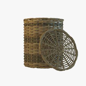 wicker wickerbasket basket 3D