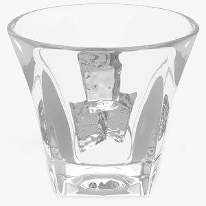 3D shot glass ice