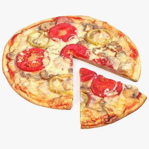 3D pizza slice cut model