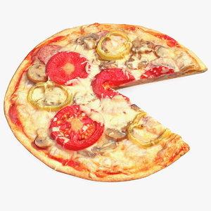 3D model pizza slice
