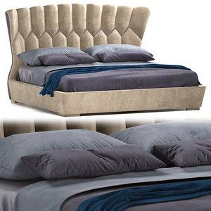 luxury mollie bed furniture 3D model