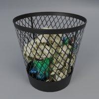 Trash Bin Low Poly