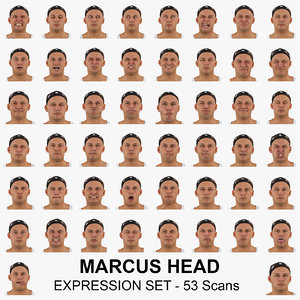 3D marcus real head expression