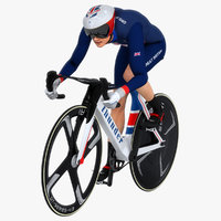 Track Cyclist Animated HQ