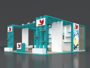 3D model stall height 4 open